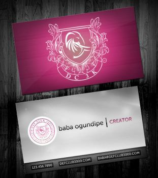 Def Club 3000 Business Cards by ipholio