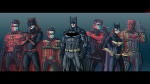 3D Batman & Friends by DafuqMIX