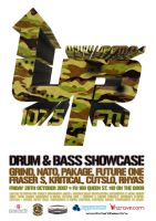 UpFM DNB Showcase Poster by snaxnz