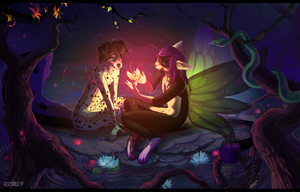 NIGHT BUTTERFLIES by arucarrd