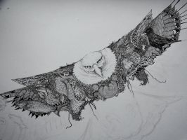 Eagle doodle detail WIP by Pittman47