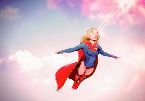 supergirl Flying by maxx0