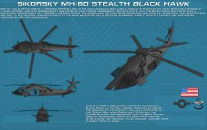 Stealth Sikorsky MH-60 Black Hawk ortho [new] by unusualsuspex