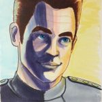 Jim Kirk in Blue, Purple, and Gold by DNA-The-Authoress