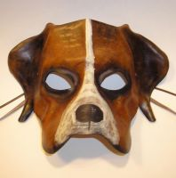 Dog Leather Mask by teonova