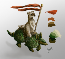 Ferret Rider by ErynKR