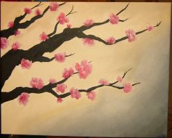 Cherry Blossoms WIP by JustCin