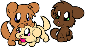 Sue's Puppies by HeartinaThePony