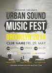 Urban Sound Music Fest Flyer by CIROdg