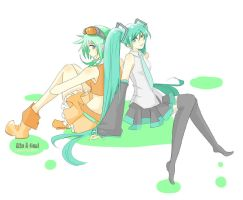 Gumi and Miku by BumblebeeSam