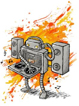 Robot DJ is in the House by Eenuh