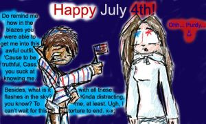 Happy July Fourth - Comic One by CK-NoName