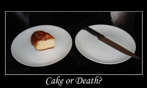 Cake or Death? by KakashiMorph