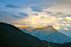 Mountains Clouds And Rainbow by Cicciobello-BoBo