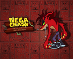 Nega Crash Wallpaper by E-122-Psi