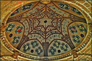 The Dome In The Centre Of The Gothic Temple Roof by Estruda