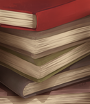 A beautiful stack of books by NoNoKoHime