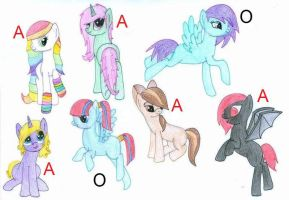 2 POINT ADOPTABLES!!!! by EquestriasPonies