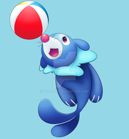 Popplio by Wyndarl