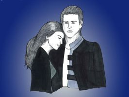 Farscape - Crichton and Aeryn by Loralthea