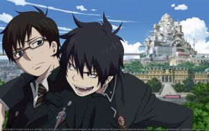 Ao no Exorcist Wallpaper HD: Ao no Futago by elisadevelon