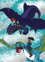 SH-HTTYD: Aerrow and Piper by Kenichi-Shinigami