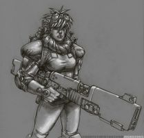 Female Gunner by NgBoy