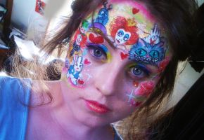 Wonderland Face paint by Blueberrystarbubbles
