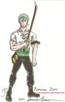Day 1: Roronoa Zoro by HyruleExorcist