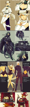 NEW OCs : Edith, Edvin and Fabio by Neire-X