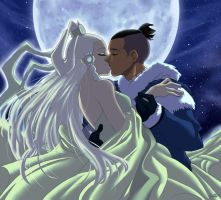 Sokka and Yue by ArtCrawl