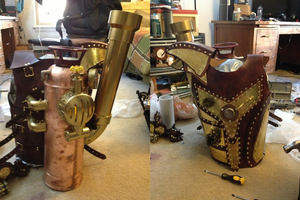 My completed Steampunk torso power armor by NickHawke