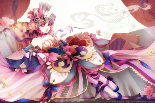 Madam Butterfly by bluefeathers