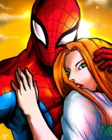 Mary Jane and Spiderman by DarroldHansen