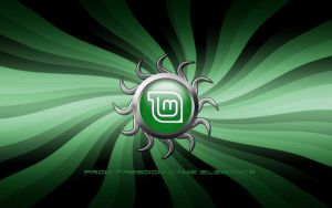 Linux Mint Star - Widescreen by DLKreations