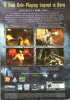 Vampire The Masquerade: Bloodlines Back Cover by derrickthebarbaric