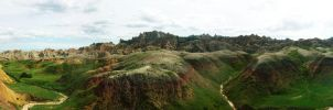 Badlands Panorama p2 by dusthimself