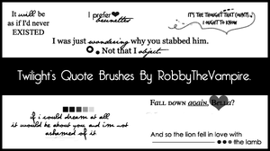 Twilight's Quote brushes - PS by RobbyTheVampire