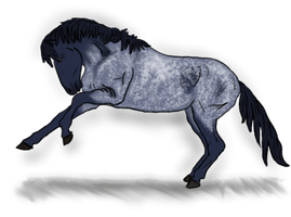 Blue Roan Mustang Adoptable CLOSED by LilWolfStudios