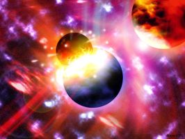 Planetary collision by Maggot350