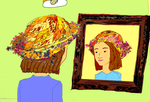 Girl with GiGi's Fall Festival Hat by jerryhankins