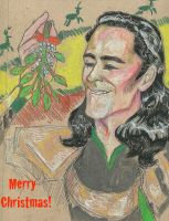 Merry Christmas Loki by AmberPalette