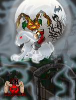 BuryDowns: The Dullabun, Ghost Bun Rider by KeresaLea