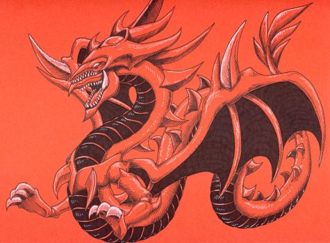 Slifer Red by FoolishLittleMortal
