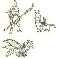 Insect Knight Sketches by Pandadrake