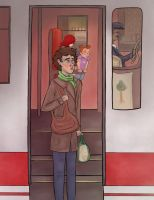 Arriving in Titan Illustration by Shauna-O-Connor