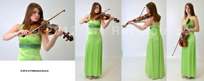 Beautiful young woman with viola Stock by ArtReferenceSource