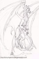 The white Dragon by Silverlight-Dream