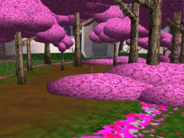 MMD Sakura Tree Forest by SachiShirakawa