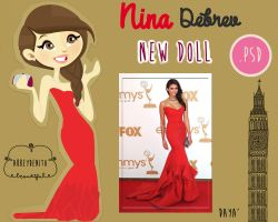Nina Dobrev Doll by AbbeyDenith